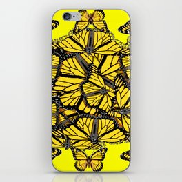 YELLOW MONARCH BUTTERFLY DOG PILE OF WINGS iPhone Skin