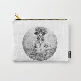 Woman and Vintage Camera Carry-All Pouch