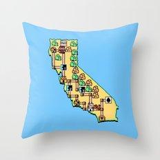 Super California Throw Pillow