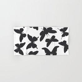 black butterflies, cicada silhouette Hand & Bath Towel