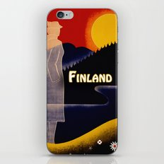 Vintage Finland Travel iPhone & iPod Skin