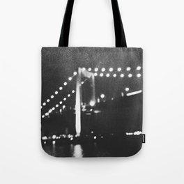 Manhattan Bridge At Night Tote Bag
