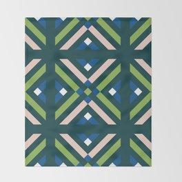 GEOMETRIC COLORS Throw Blanket