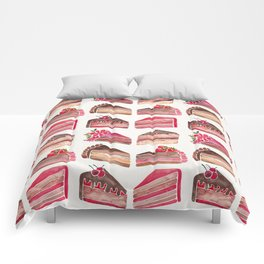 Cake Slices – Pink & Brown Palette Comforters