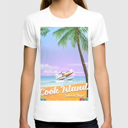 Cook Islands vintage beach poster. T-shirt