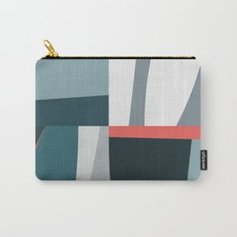 Organic Geometric 01 Blue Carry-All Pouch