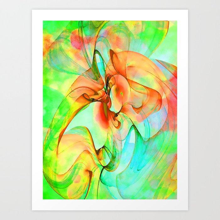 Dancing Veil 4 Art Print
