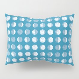 Textured Moon Phases Pattern Pillow Sham