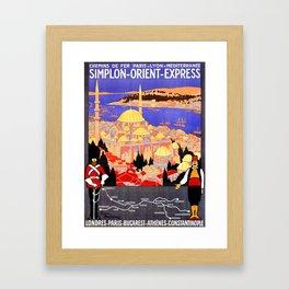 Vintage Simplon Orient Express London Constantinople Framed Art Print