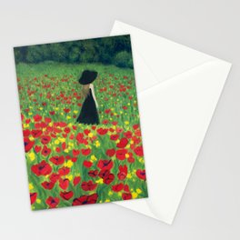 Mourning Lady Stationery Cards