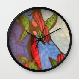 Rose Garden at Twilight Wall Clock
