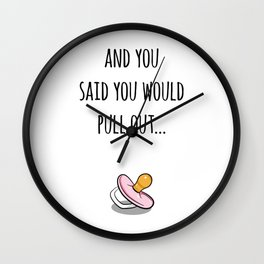 Oops Its a girl, funny pregnancy announcement Wall Clock