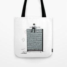 LITTLE DREAMS, BIG BOOKCASE Tote Bag