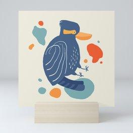 Quirky Laughing Kookaburra Mini Art Print