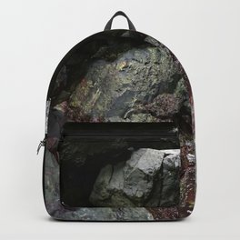 Ocean Weathered Cave Rock Formation Cornwall Backpack
