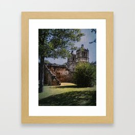 Mission Concepcion - San Antonio, Texas Framed Art Print