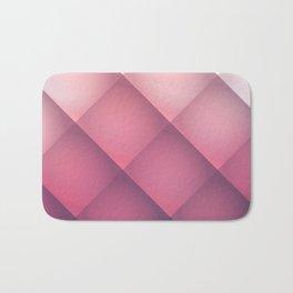 Claret, Pink and White Mosaic Background Bath Mat