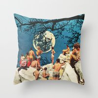 the moon Throw Pillows featuring Moon by Ben Giles