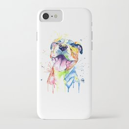 Pit Bull, Pitbull Watercolor Painting - The Softer Side iPhone Case