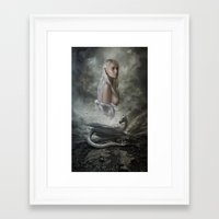 mother of dragons Framed Art Prints featuring Mother of Dragons by Flo Tucci