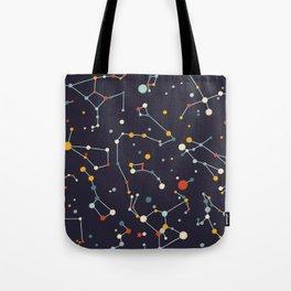 Starry Sky (purple mid century palette)  Tote Bag