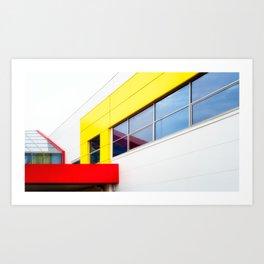 Bright Building Blocks Art Print