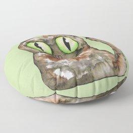 Tortoiseshell cat Floor Pillow