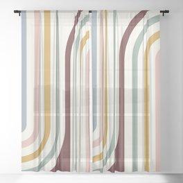 Bold Curvature Stripes XIX Sheer Curtain