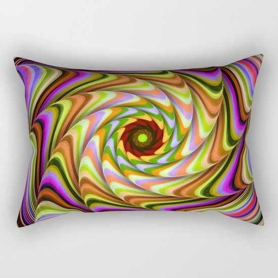 Colourful psychedelic motion Rectangular Pillow