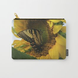 Swallowtail And Sunflower Carry-All Pouch