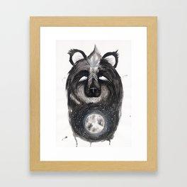 Selene the Moon Bear. Framed Art Print