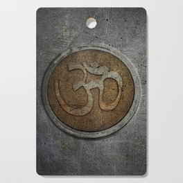 The sound of the Universe. Gold Ohm Sign On Stone Cutting Board