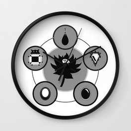 The Power Six - Minimalist White Wall Clock