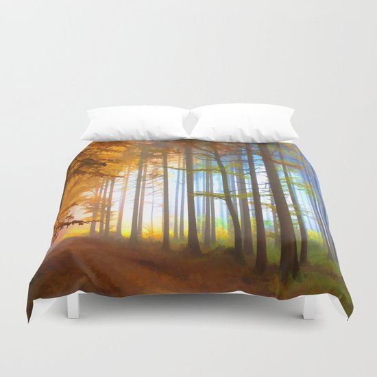 Ethereal Forest  Duvet Cover