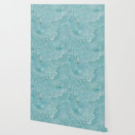 Turquoise Sea Marble Wallpaper