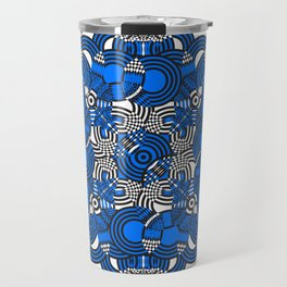 Mandala Tribal Pattern with Geometric Shapes & Circles Travel Mug