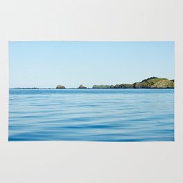 Island on the Horizon Photography Print Rug