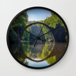 bridge in the nature Wall Clock