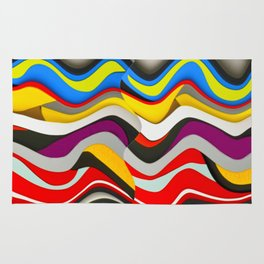 Colored Waves Rug