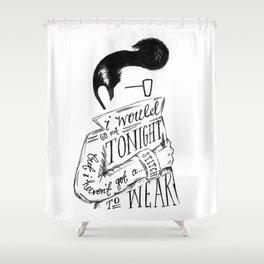 The Smiths lyric print Shower Curtain