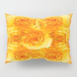 MODERN  GOLDEN ROSES FLOWERS CARPET Pillow Sham