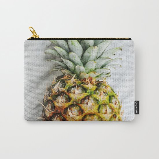 Ananas and Marble Carry-All Pouch
