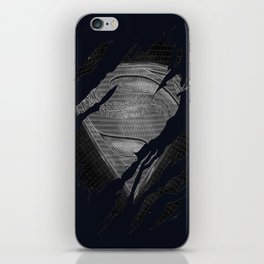 THE DEATH OF MEN OF STEEL iPhone Skin
