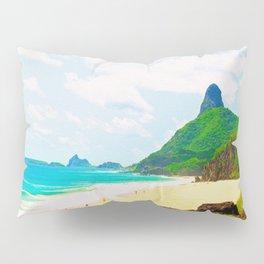 Morro do Pico Painting View Pillow Sham