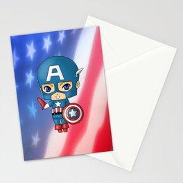 Chibi Captain America Stationery Cards