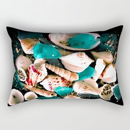 Glass Shell Rectangular Pillow
