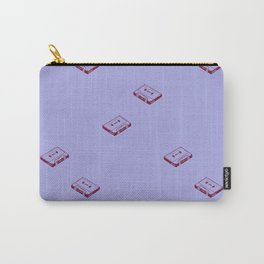 Cassette Tapes- Periwinkle Carry-All Pouch