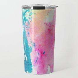 Watercolor Splashes Travel Mug
