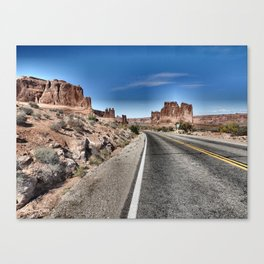 On the road, Utah. Canvas Print