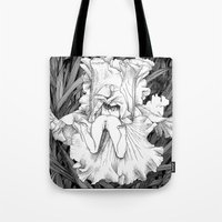 apollonia Tote Bags featuring asc 566 - La butineuse (Seeking for sweetness) by From Apollonia with Love